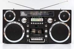 GPO Brooklyn Black Portable Boombox - 1