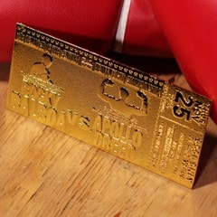 Rocky II Apollo Creed Fight Ticket: 24K Gold Plated Limited Edition Collectible - 4