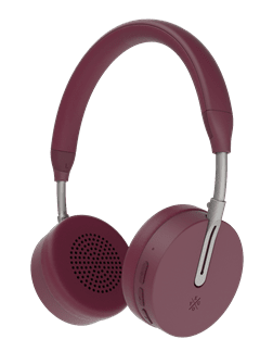 Kygo A6/500 Burgundy Red Bluetooth Headphones - 1