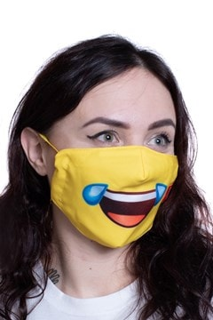 Cry Laugh Emoji Face Covering - 2