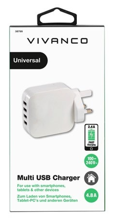 Vivanco USB Multi Port Plug With Quick Charge Port - 2