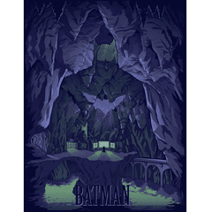 Batman: Bat Cave: Limited Edition Art Print - 1