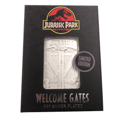 Jurassic Park: Entrance Gates Silver Plated Collectible - 4