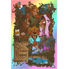 Robin Hood: Foil Lithograph: Limited Edition Art Print - 1
