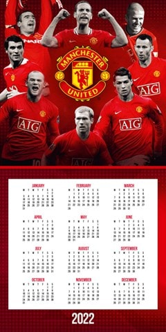 Manchester United FC 2022 Calendar & Diary Gift Box - 5
