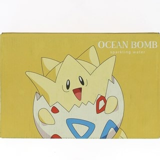 Pokemon (Togepi) Ocean Bomb: Pear Flavour Sparkling Water: Case Of 24