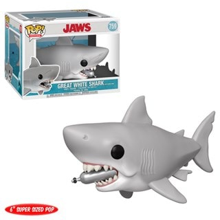 Pop Vinyl: Jaws With Diving Tank (759): Great White Shark: 6 Inch