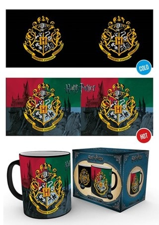 Harry Potter Hogwarts Crest Heat Change Mug