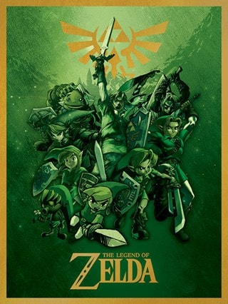 The Legend Of Zelda: Link Fighting Canvas Print