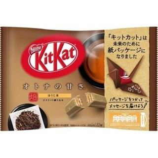 Kit Kat Hojicha Roasted Green Tea: Mini Share Pack of 12