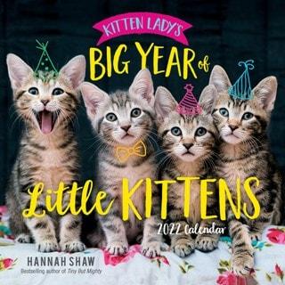 Kitten Lady's Big Year of Little Kittens Square 2022 Calendar