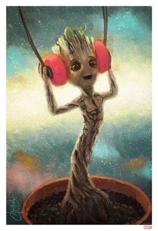 Baby Groot Christopher Clark Guardians of the Galaxy Art Print