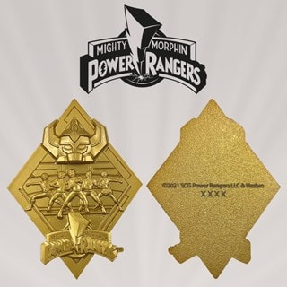 Power Rangers: 24k Gold Plated Limited Edition Medallion Collectible