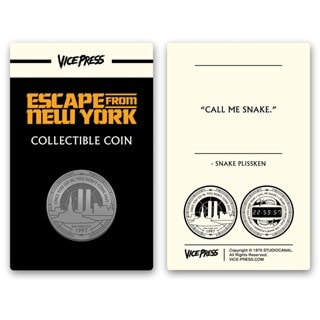 Escape From New York: Collector's Coin
