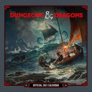 Dungeons & Dragons: Square 2021 Calendar