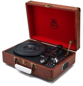 GPO Attache Vintage Brown Turntable