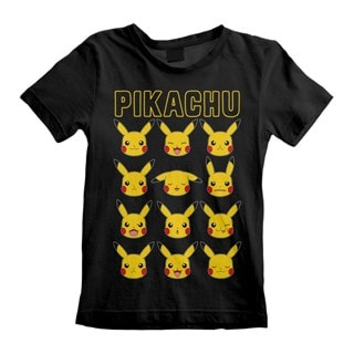 Pokemon: Pikachu Faces (Kids Tee)