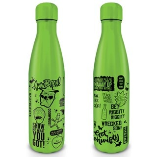 Rick & Morty: Quotes Metal Drink Bottle