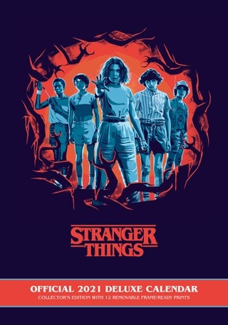 Stranger Things: A3 Deluxe 2021 Calendar