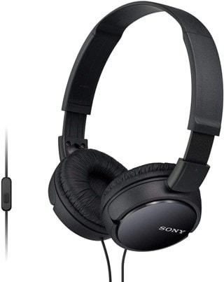 Sony MDRZX110 Black Headphones With Mic