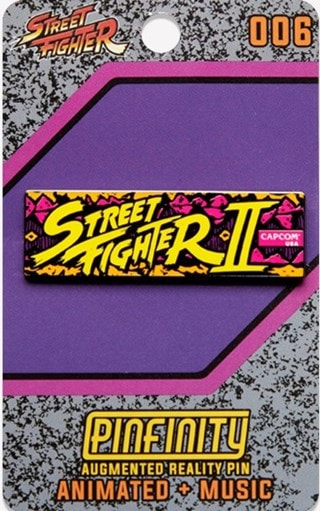 Street Fighter II Marquee Pinfinity Pin Badge