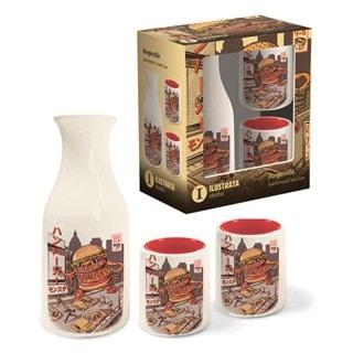 Burgerzilla Sake Set
