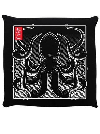 Unorthodox Collective: Oriental Octopus Black Cushion
