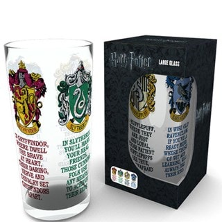 Harry Potter: House Crests Large Glass