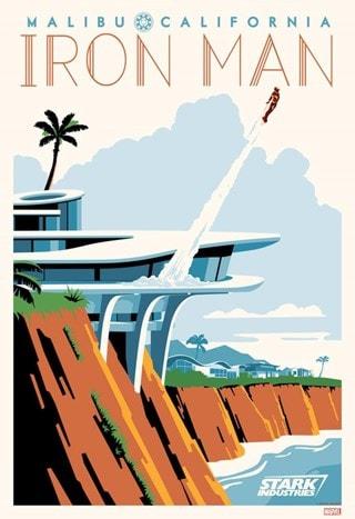 Malibu Tony Stark Steve Thomas Marvel Iron Man Art Print