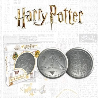 Harry Potter: Metal Embossed Coaster Set
