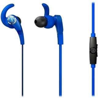 Audio Technica ATH-CKX7IS Sonic Fuel Blue Earphones W/Mic