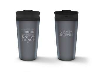 Metal Travel Mug: Game Of Thrones (I Drink And I Know Things)