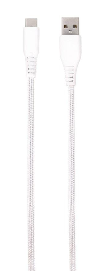 Vivanco White Longlife Lighning USB-C Cable 2.5m