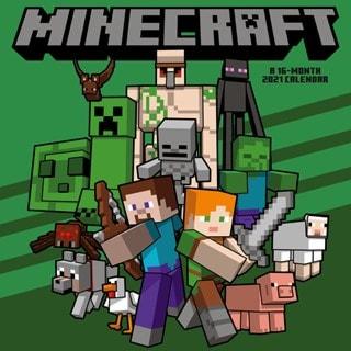 Minecraft: Square 2021 Calendar