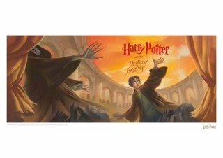 Harry Potter: Deathly Hallows Book Cover Art Print
