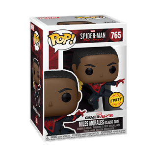 Classic Suit With Chase (765): Spiderman Miles Morales: Gamer Verse Pop Vinyl