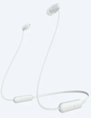 Sony WI-C200 White Bluetooth Earphones