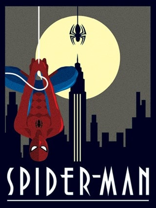 Spider-Man Hanging: Marvel Deco Canvas Print