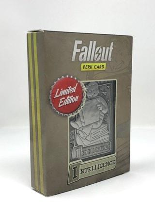 Fallout: Intelligence Metal Perk Card