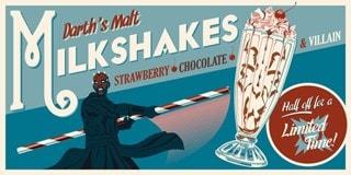 Star Wars: Darth's Malt Milkshakes Steve Thomas Limited Edition Silkscreen Print