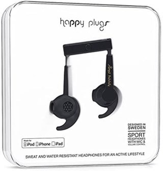 Happy Plugs Sport Black Sports Earphones (online only)