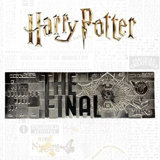 Harry Potter: Quidditch World Cup Ticket Metal Replica (online only)