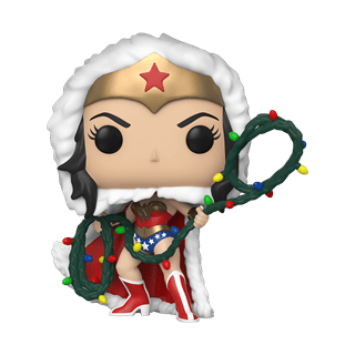Wonder Woman with String Light Lasso (354) DC Holiday Pop Vinyl