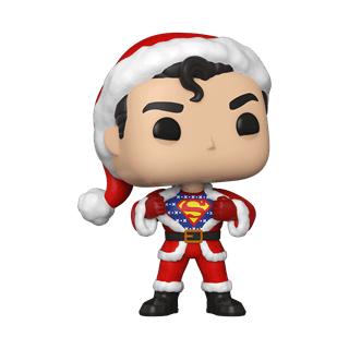 Superman in Holiday Sweater (353) DC Holiday Pop Vinyl