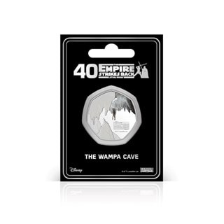 Wampa Cave: Silver Plated Star Wars Commemorative Coin