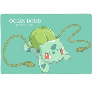 Pokemon (Bulbasaur) Ocean Bomb: Apple Flavour Sparkling Water: Case Of 24