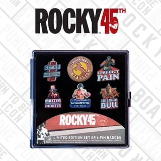 Rocky Limited Edition Pin Badges (Pack of 6)