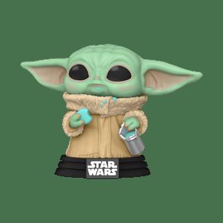 Grogu With Cookie (465): Mandalorian: Star Wars Pop Vinyl