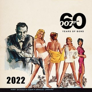 James Bond 60 Years of Bond Square 2022 Calendar