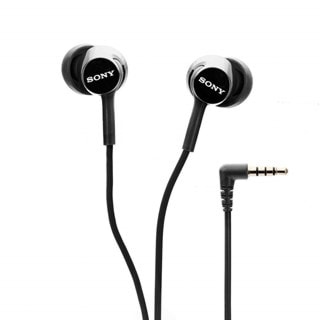 Sony MDREX155AP Black Earphones w/Mic